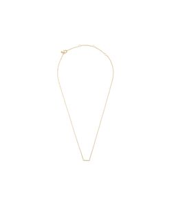 EF COLLECTION | Mini Diamond Bar Necklace