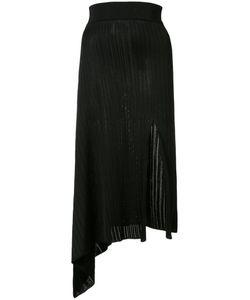 Cushnie Et Ochs | Asymmetric Ribbed Skirt Medium Viscose
