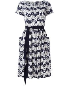Carolina Herrera | Print Dress 12 Cotton/Spandex/Elastane/Acetate/Polyester