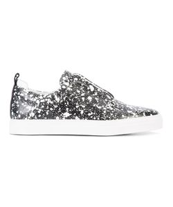Pierre Hardy | Splatter Print Slip-On Sneakers 42 Leather/Rubber
