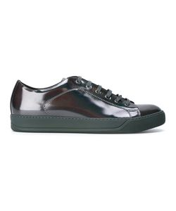 Lanvin   High-Shine Lace-Up Sneakers 9 Calf Leather/Leather/Rubber