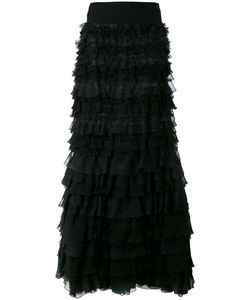 Giambattista Valli | Long Off The Shoulder Ruffle Dress