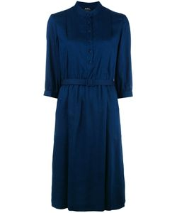 A.P.C. | Pleated Shirt Dress 38 Viscose