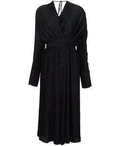 TOME | Атласное Плиссированное Платье С Запахом