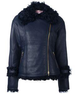 Lanvin | Кожаная Куртка С Меховой Оторочкой