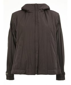 PLEATS PLEASE BY ISSEY MIYAKE | Loose-Fit Sleeves Hooded Jacket