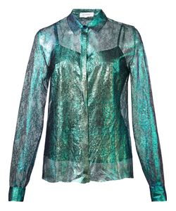 Delpozo | Iridescent Lace Shirt