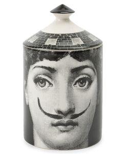 Fornasetti Profumi   Mustache Portrait Lidded Candle