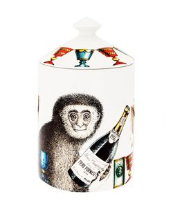 FORNASETTI | Champagne Monkey Scented Wax Candle