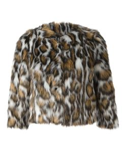Moschino | Leopard Print Faux Fur Jacket 38 Rayon/Acrylic/Polyester