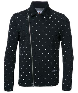 EDUCATION FROM YOUNGMACHINES | Dotted Back Quote Biker Jacket 2