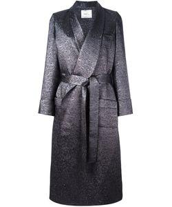 RACIL | Velvet Lapel Long Coat 40 Polyethylene/Viscose/Acrylic/Metal