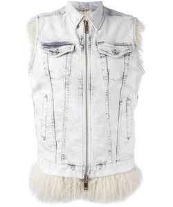 Diesel | Sleeveless Zipped Jacket Xs Cotton/Spandex/Elastane/Modacrylic/Acrylic