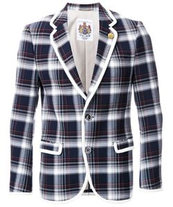 EDUCATION FROM YOUNGMACHINES | Plaid Single Breasted Coat 3