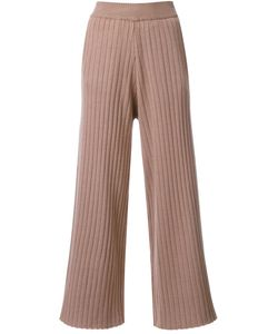 LOVELESS | Cropped Knitted Trousers 36 Rayon