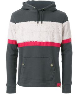 EDUCATION FROM YOUNGMACHINES | Textured Stripe Hoodie 1 Cotton
