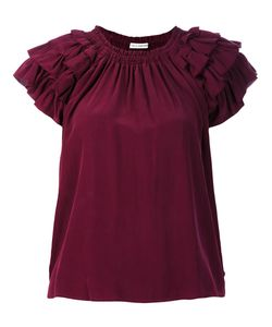 Ulla Johnson | Ruffled Detail T-Shirt Small Silk