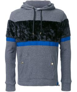 EDUCATION FROM YOUNGMACHINES | Striped Texture Hoodie 1 Cotton