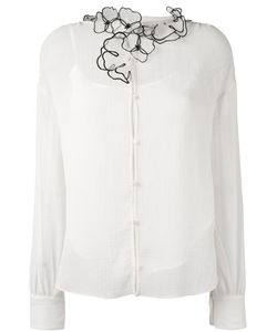 See By Chloe | See By Chloé Flower Embellished Collar Shirt 36