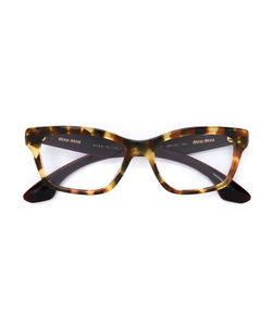 Miu Miu Eyewear | Embellished Arm Glasses Acetate