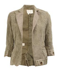 GREG LAUREN | Cropped Blazer Jacket 1 Linen/Flax
