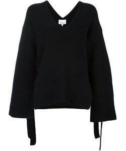 3.1 Phillip Lim   Side Tie Jumper Large Cotton/Polyester/Spandex/Elastane