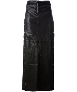 Ilaria Nistri | Studded A-Line Long Skirt 40 Leather/Silk/Viscose/Pbt