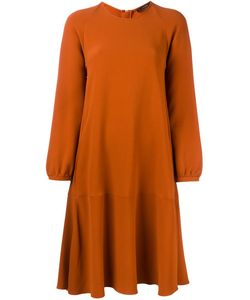 Odeeh | Long Sleeve A-Line Dress 42 Acetate/Viscose
