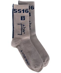 A-Cold-Wall | Logo Intarsia Socks Cotton
