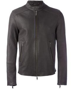 DESA | 1972 Zip Up Biker Jacket 46 Leather/Viscose/Acetate