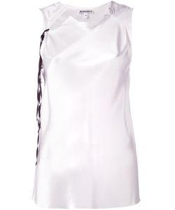 Ann Demeulemeester | Blanche Sleeveless Collar Cutout Blouse 36