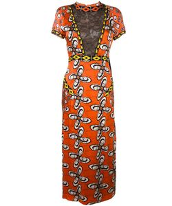 Wunderkind | African Wax Print Lace Effect Dress 34