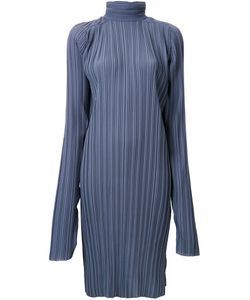 STRATEAS CARLUCCI | Pleated Funnel Neck Tunic Small Polyester