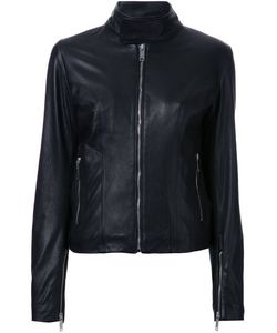 STRATEAS CARLUCCI | Slim Fit Biker Jacket Small Leather