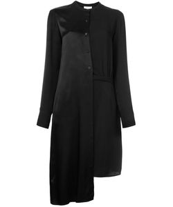 DKNY | Asymmetric Satin Shirt Dress 6 Polyester/Viscose