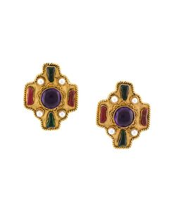 Chanel Vintage | Byzantine Gripoix Clip-On Earrings