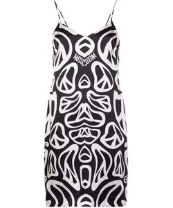 Moschino | Peace Sign Print Dress 38 Silk