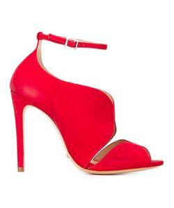 SCHUTZ | Ankle Strap Stiletto Sandals 36 Suede/Leather