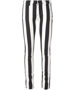OFF-WHITE | Striped Skinny Jeans 25 Cotton/Spandex/Elastane