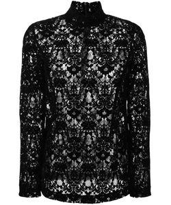 DKNY | Velvet Lace Blouse 6 Nylon/Viscose