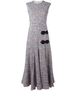 Alessandra Rich | Sleeveless Long Tweed Dress 38 Polyamide/Polyester/Cotton/Cupro