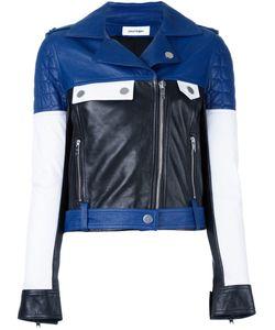 Courreges | Courrèges Colour Block Biker Jacket Womens Size 38 Lamb Skin/Cupro/Cotton