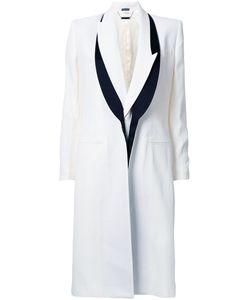 Alexander McQueen | Satin Trimmed Blazer-Style Coat 44 Acetate/Viscose