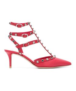Valentino | Rockstud Rolling Pumps 35 Calf Leather/Leather/Metal