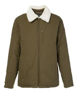 A.P.C. | Fur Collar Jacket Large Viscose/Cotton/Polyimide