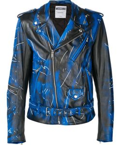 Moschino | Trompe-Loeil Biker Jacket 48 Calf Leather
