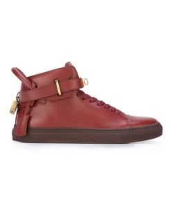 Buscemi | Buckled Hi-Top Sneakers 6 Calf Leather/Leather/Rubber