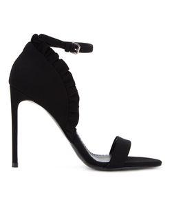 Stella Mccartney | Ruffle Ankle Strap Sandals 38 Cotton/Polyester/Polyurethane