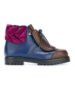 Marco De Vincenzo | Lace-Up Boots 39 Calf Leather/Leather/Velvet/Rubber