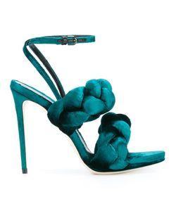 Marco De Vincenzo | Braided Sandals 40.5 Leather/Velvet